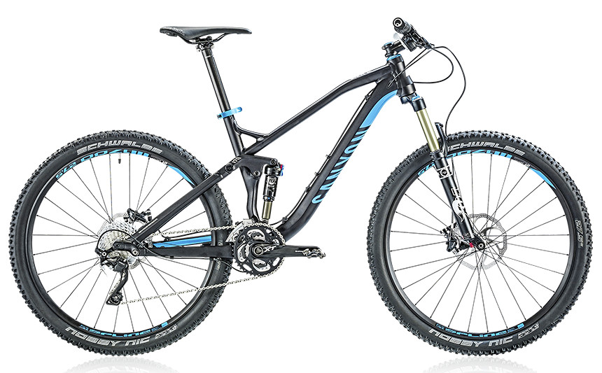 2014 Canyon Nerve AL 8.0 - deep black ano:cyan