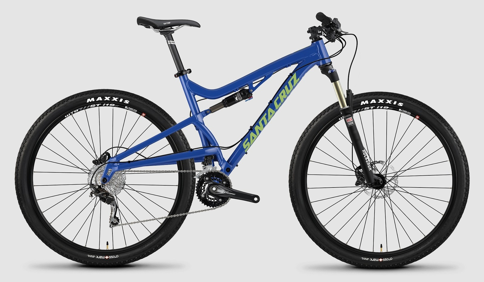 "2015 Santa Cruz Superlight 27.5"" D bike - blue"