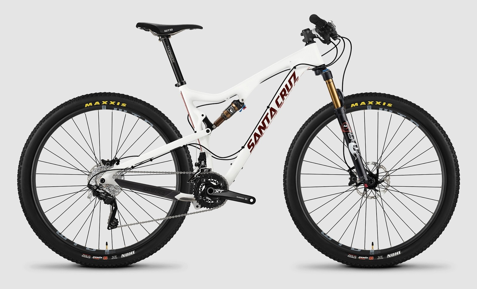 2015 Santa Cruz Tallboy Carbon C XT bike - white