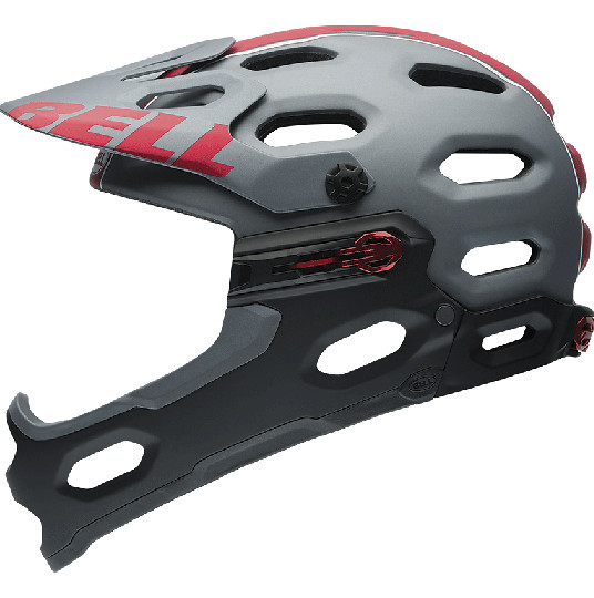 Bell Super 2R Helmet - Matte Titanium:Red Viper