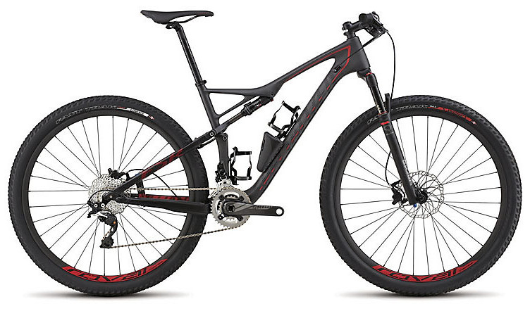 2015 Specialized Epic Expert Carbon 29 - Satin Charcoal Tint:Black:Red