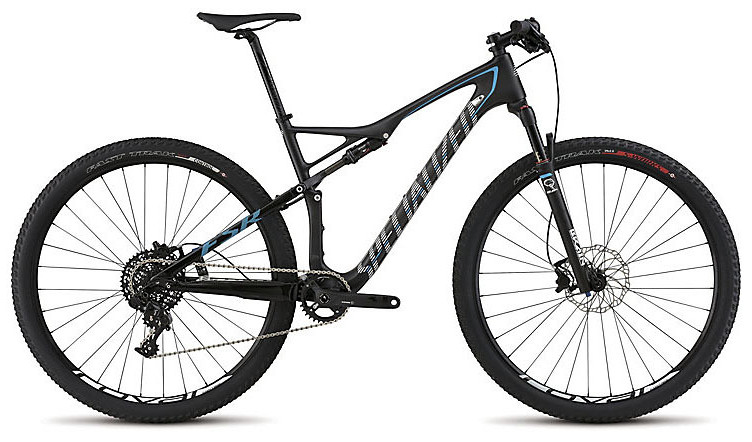 2015 Specialized Epic Elite Carbon World Cup - Satin Carbon:Cyan:White