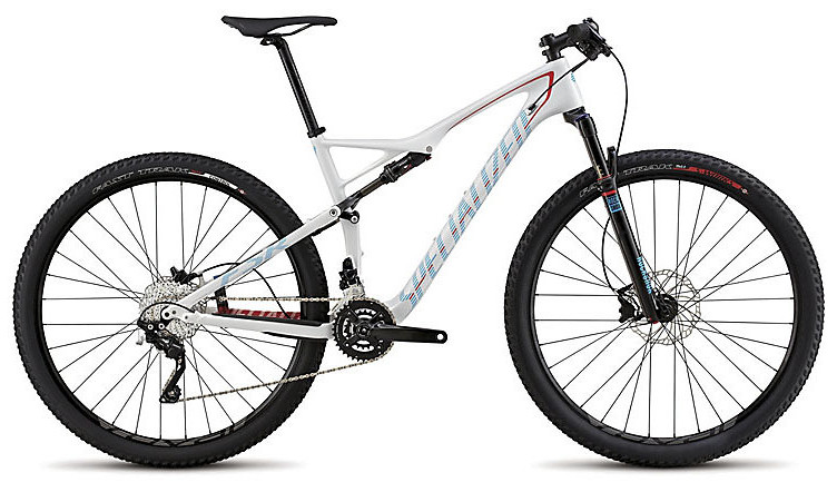 2015 Specialized Epic Comp Carbon 29 - Gloss White:Red:Black:Cyan
