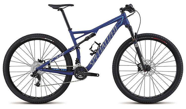 2015 Specialized Epic Comp 29 - Satin Deep Blue:Dirty White:Cyan