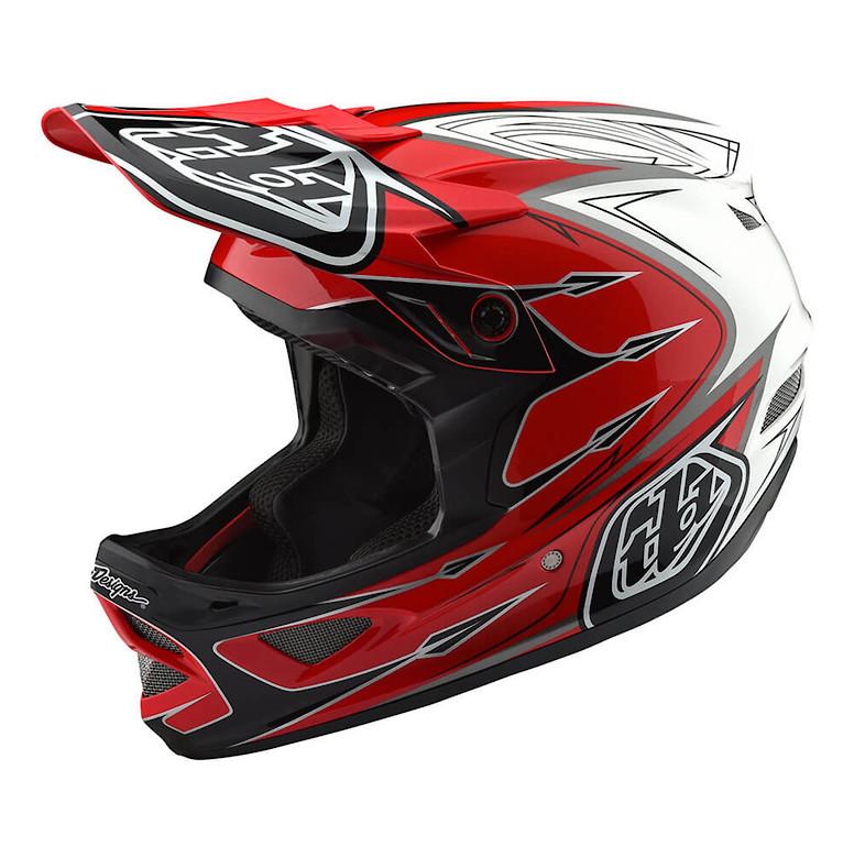 TLD D3 Composite Helmet Red/White
