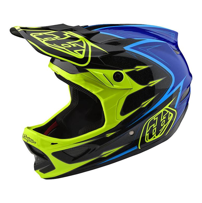 TLD D3 Composite Helmet Yellow/Blue