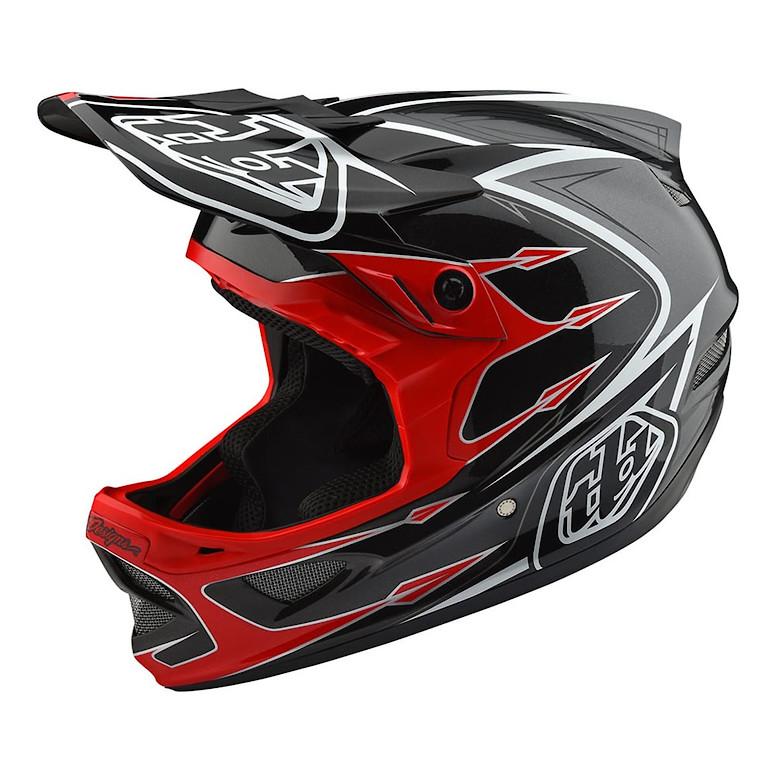 TLD D3 Composite Helmet Red/Gray