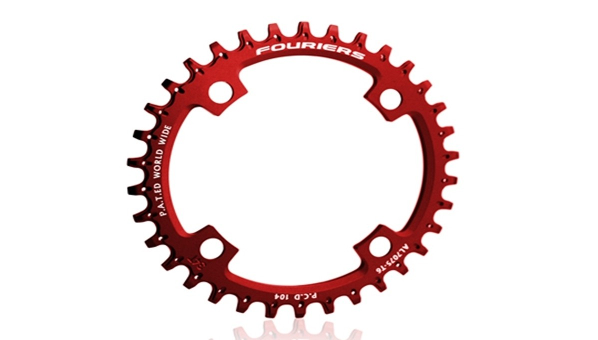 Fouriers Narrow Wide CR-DX003-AH Chainring - red