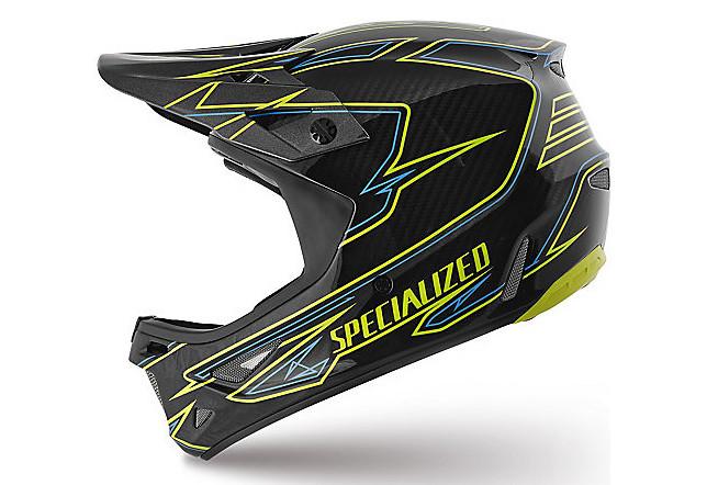 Specialized Dissident Full Face Helmet - Hyper Green:Neon Blue Transmit