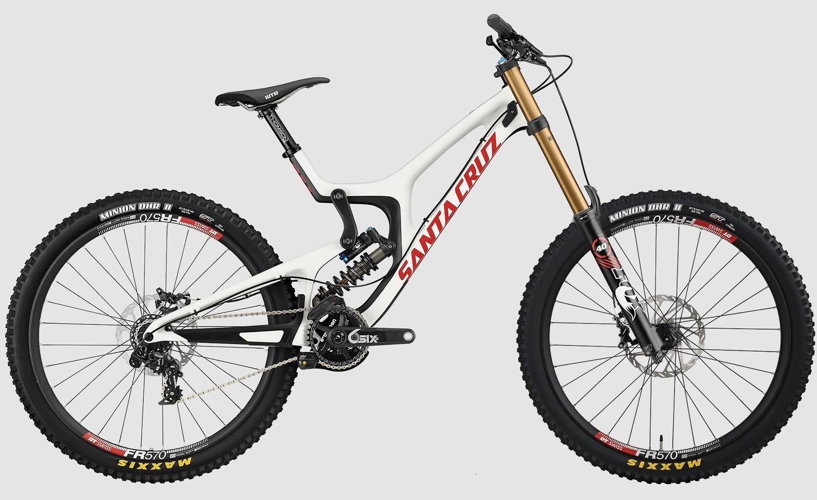 2015 Santa Cruz V10 Carbon CC X01 - white:red
