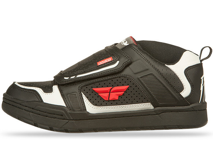 Fly Racing Transfer Shoe in Black:White