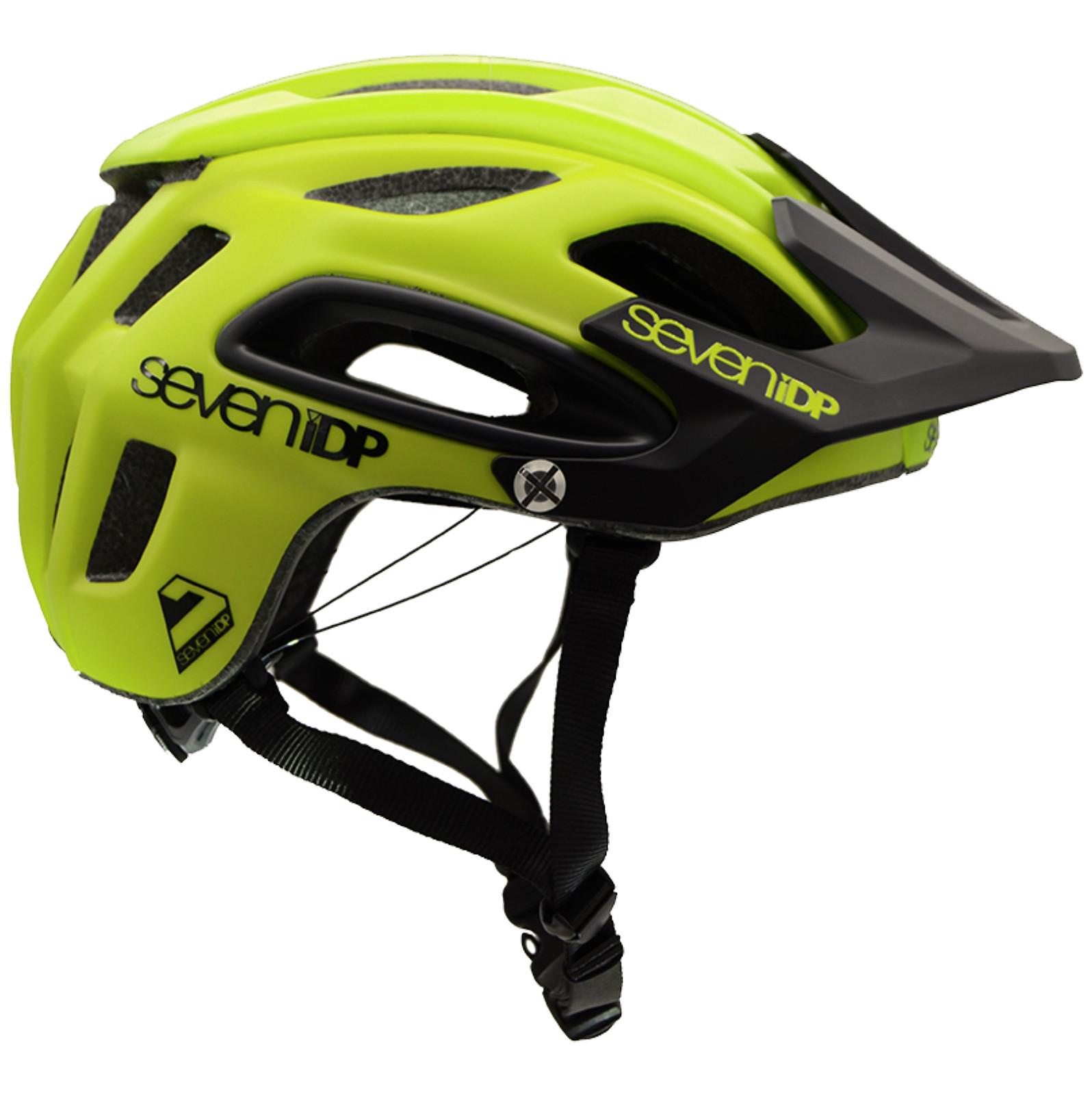 7iDP M2 Open Face Helmet - Acid Yellow/Black