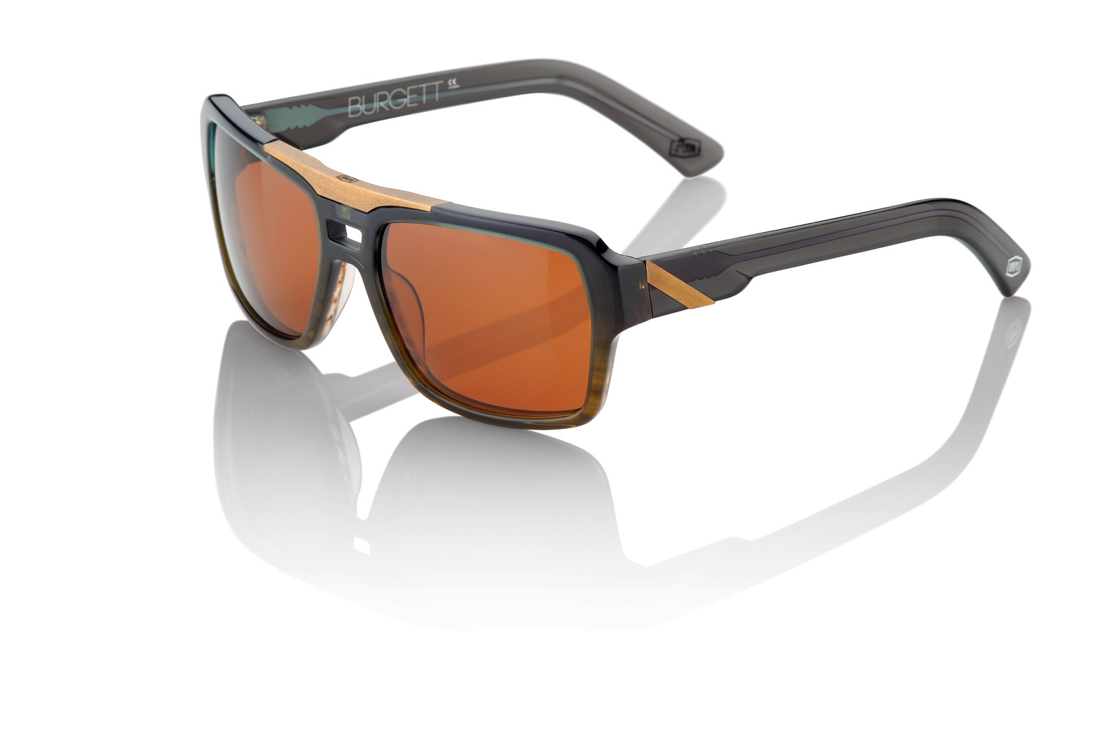 100% Burgett Sunglasses - Carbon Fade
