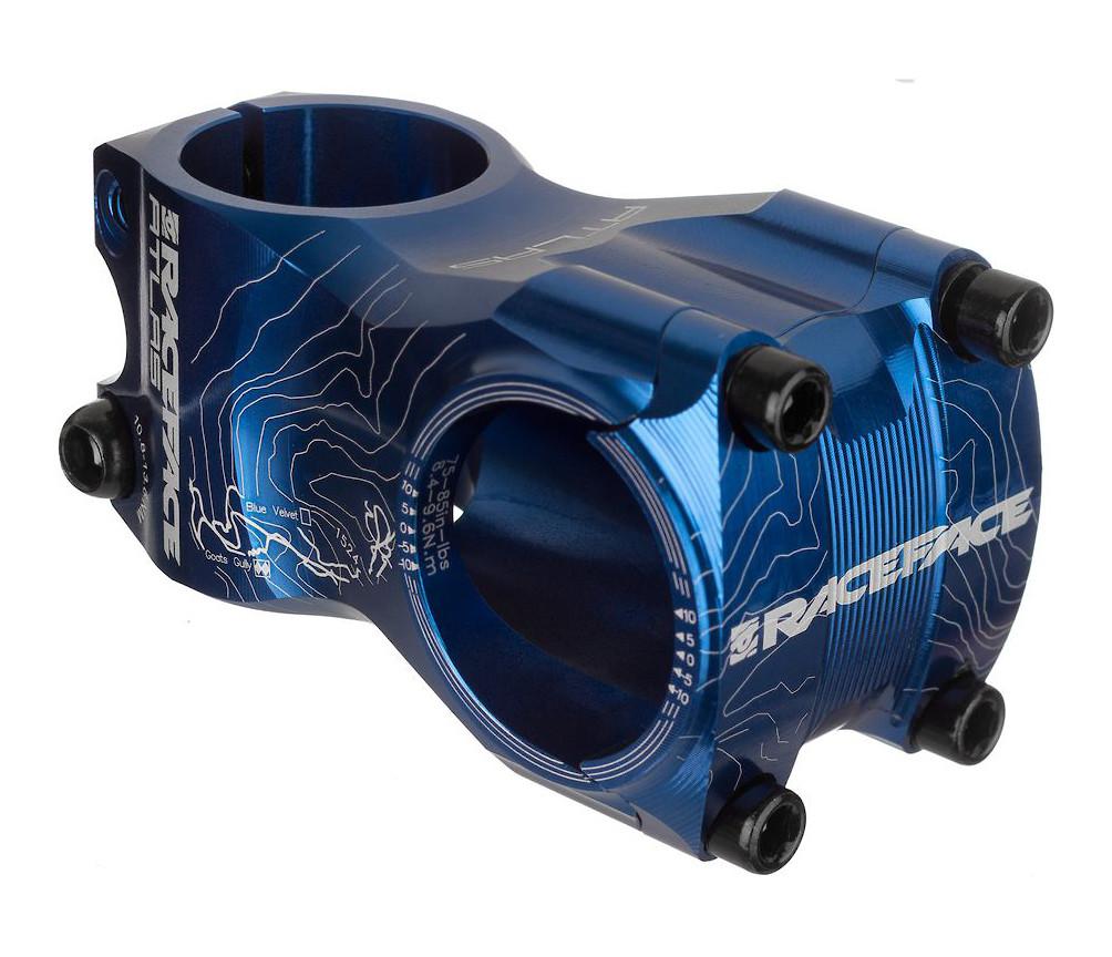 //-0 1 1//8 Aluminum Blue RaceFace Atlas Stem 65mm 31.8 Clamp