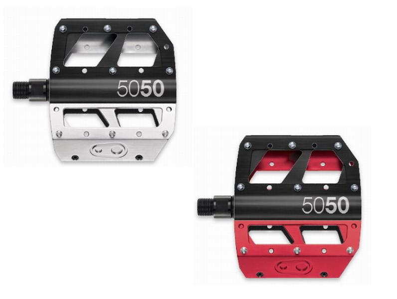 Crank Brothers 5050 Black Platform Pedals Adjustable Pins Downhill Mountain Bike