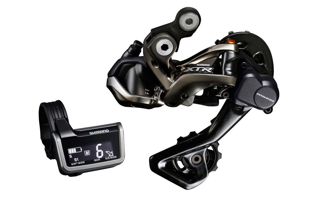 Shimano XTR Di2 M9050 Rear Derailleur and Information Display