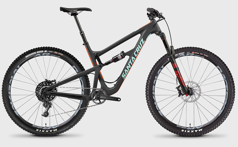2017 Santa Cruz Hightower C S Bike (Carbon/Mint)