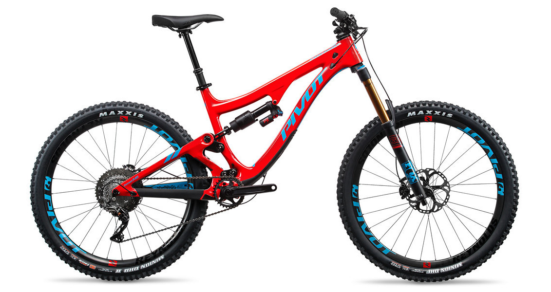 2017 Pivot Firebird Carbon (blue/red with Pro XT/XTR 1X)