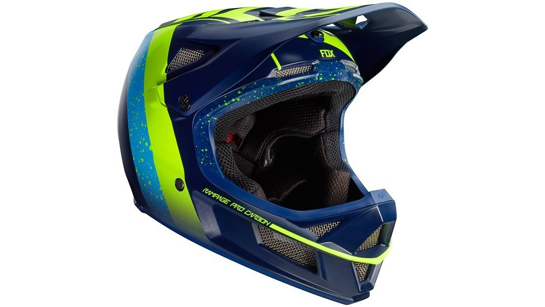 Fox Racing Rampage Pro Carbon Helmet - Kroma Navy