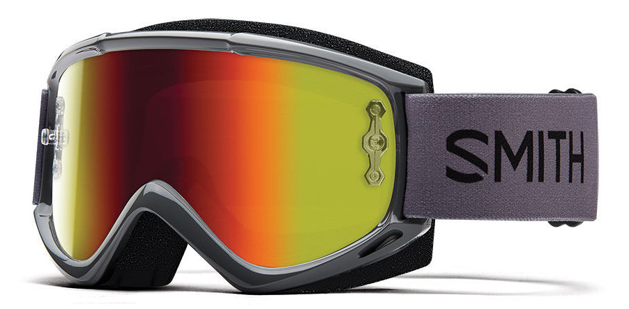 Smith Fuel V.1 Max M Goggles - Charcoal:Red Mirror