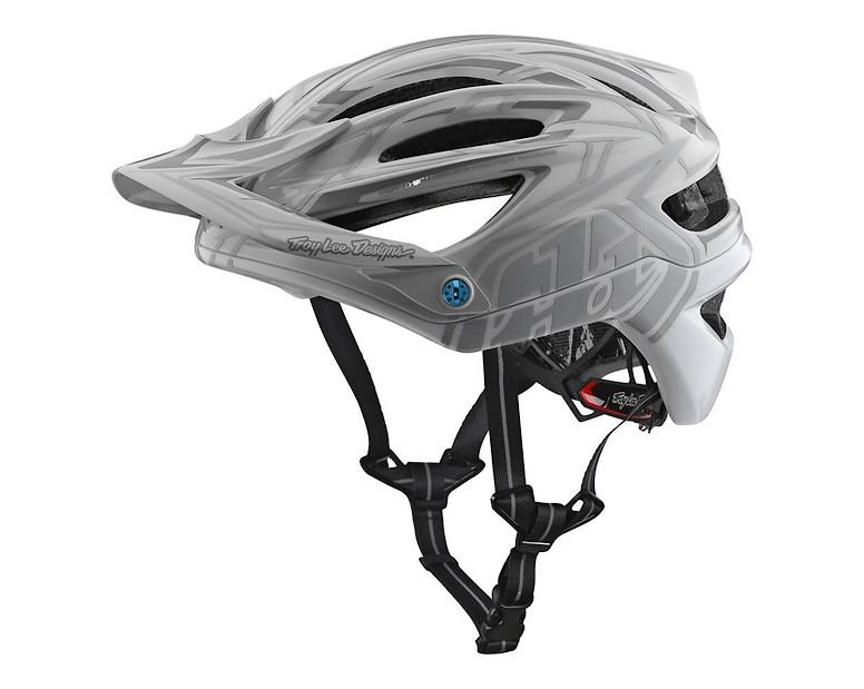 2018 Troy Lee Designs A2 MIPS Starburst Bicycle Helmet-Silver-XL//2XL