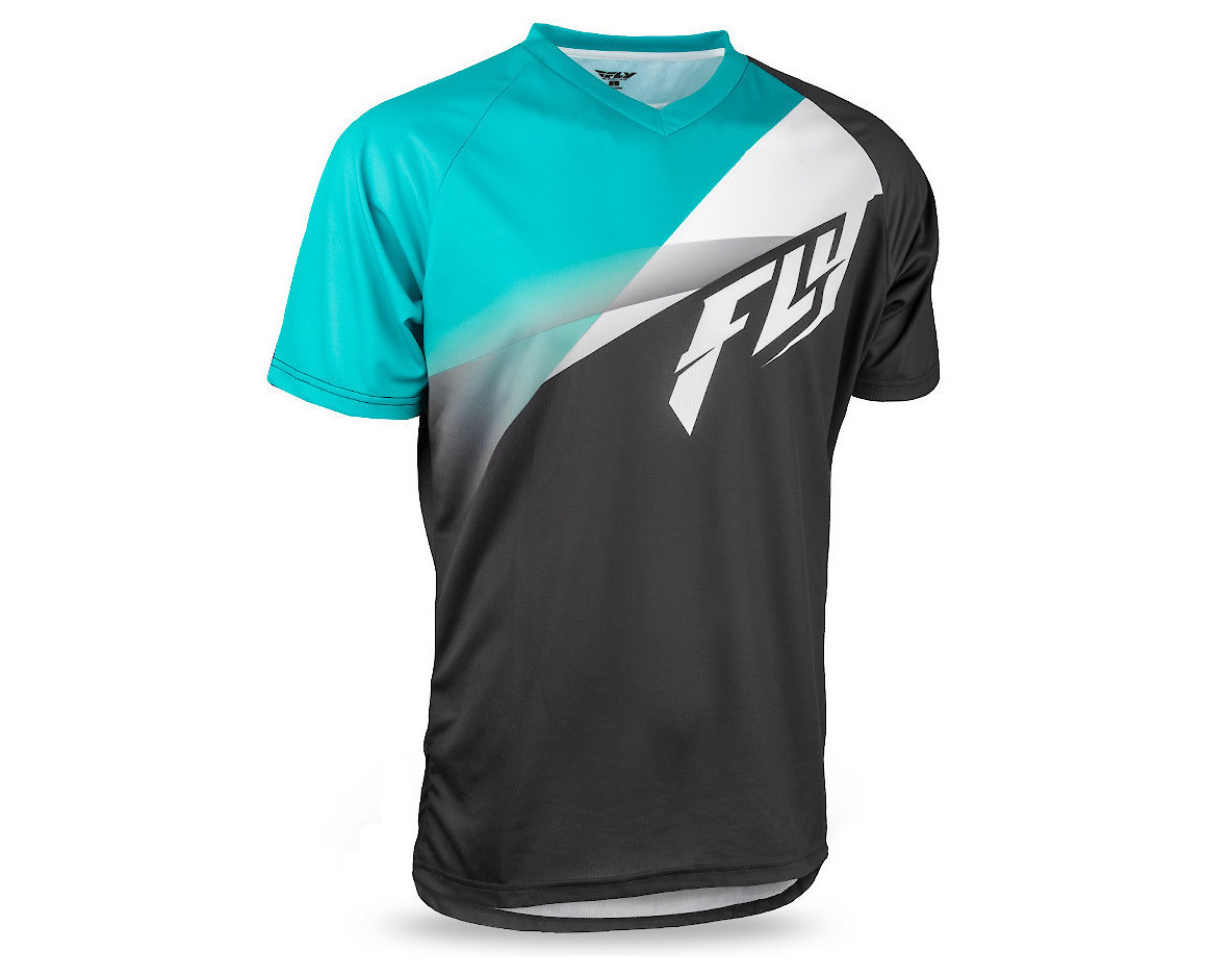 Fly Racing Super D Jersey (Teal/White/Black)