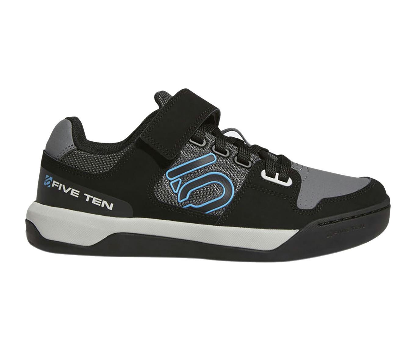 Five Ten Hellcat Women'sClipless Shoe - Grey Five/Black/Shock Cyan