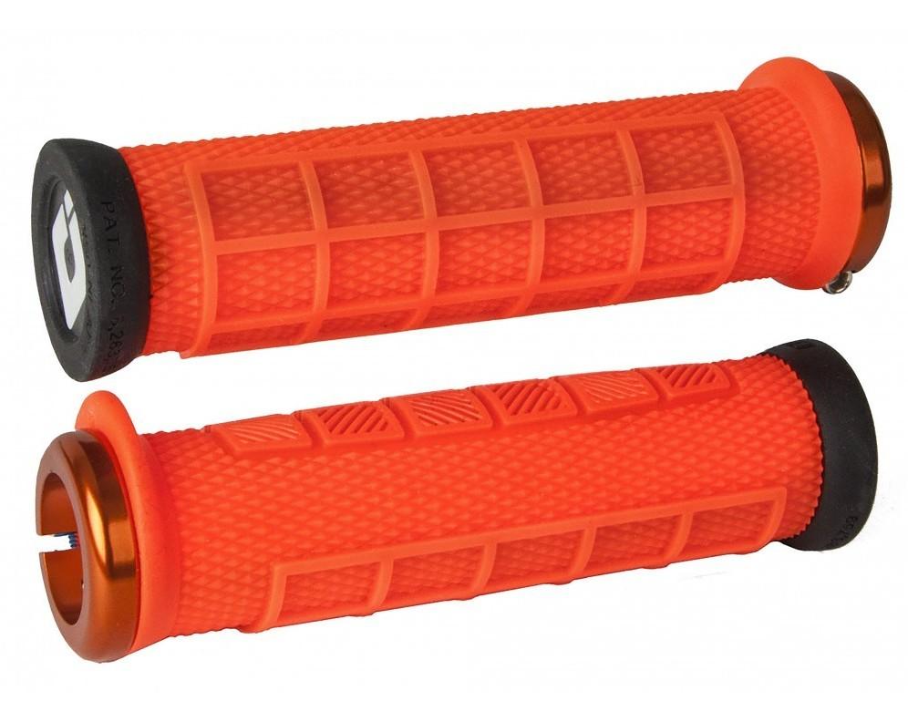 ODI ELITE FLOW LOCK-ON RED BMX-MTB BICYCLE GRIPS