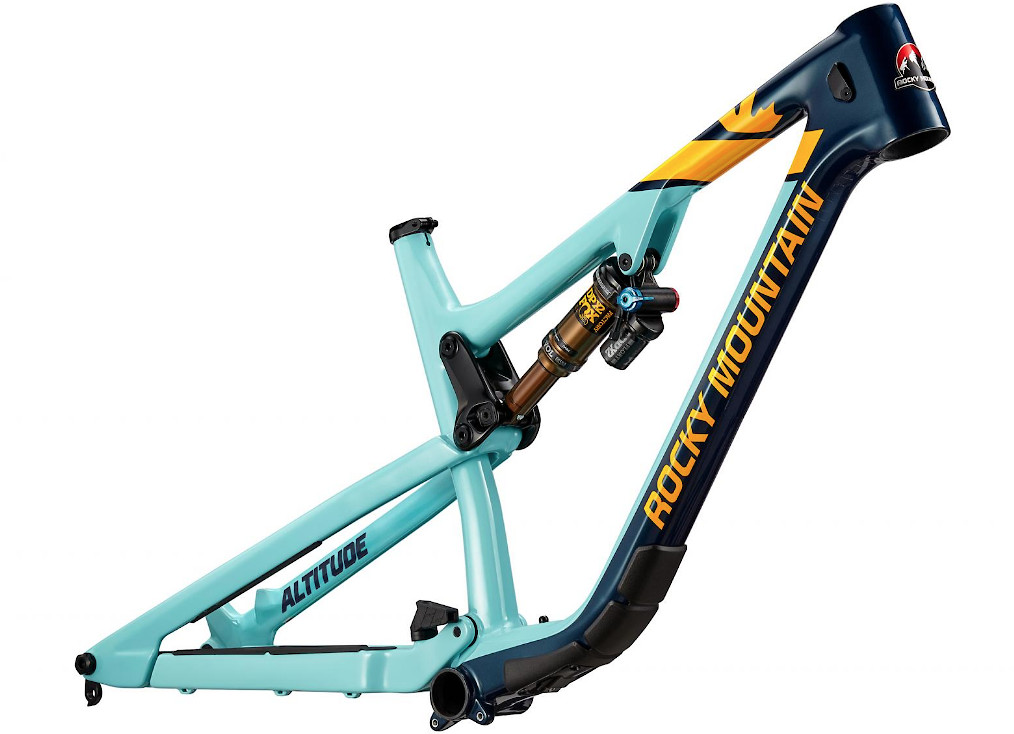 2019 Rocky Mountain Altitude Carbon Frame - Blue and yellow