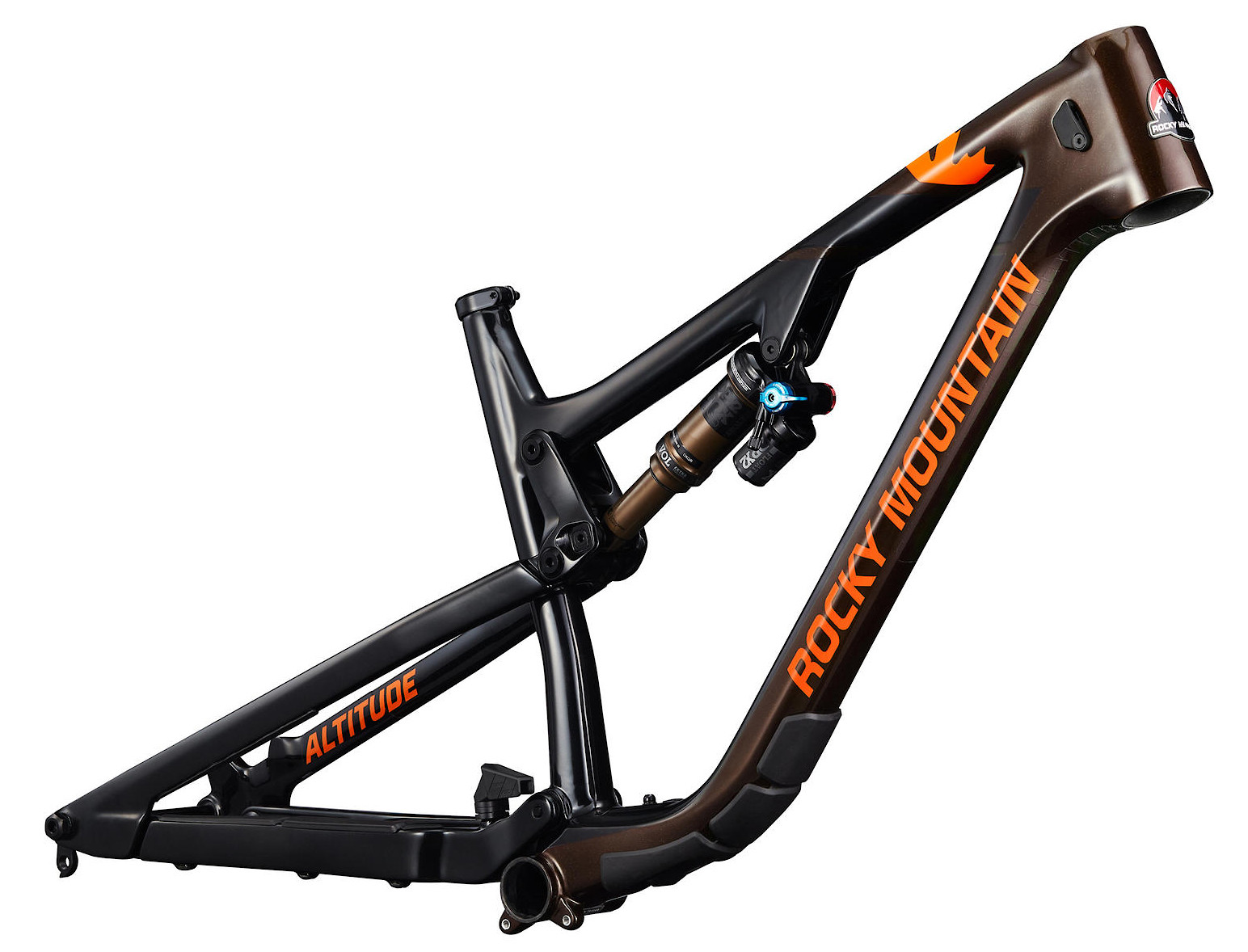 2020 Rocky Mountain Altitude Carbon Frame Black Brown and Orange