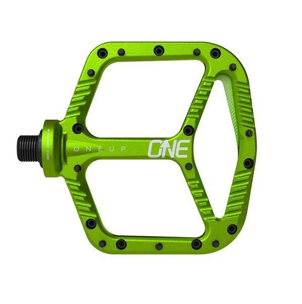 OneUp Components Aluminum Flat Pedal OneUp-Components-Alu-Flat-Pedal-Top-Green-966_grande