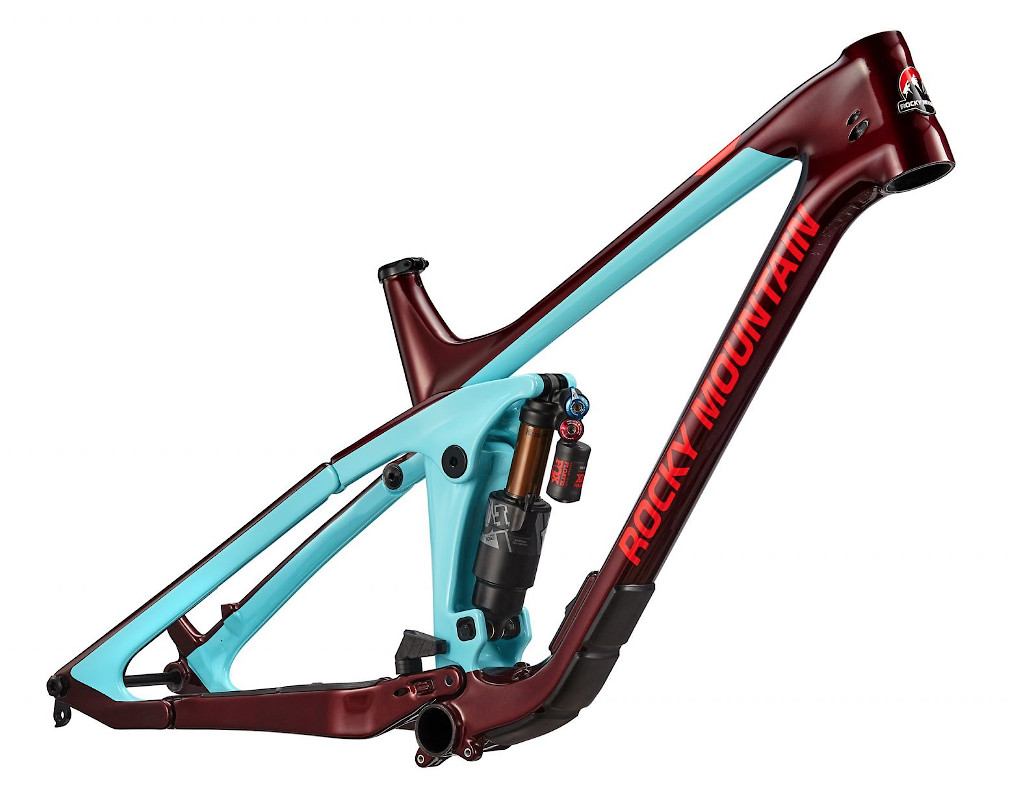 2019 Rocky Mountain Slayer Carbon Frame - Blue and maroon 1