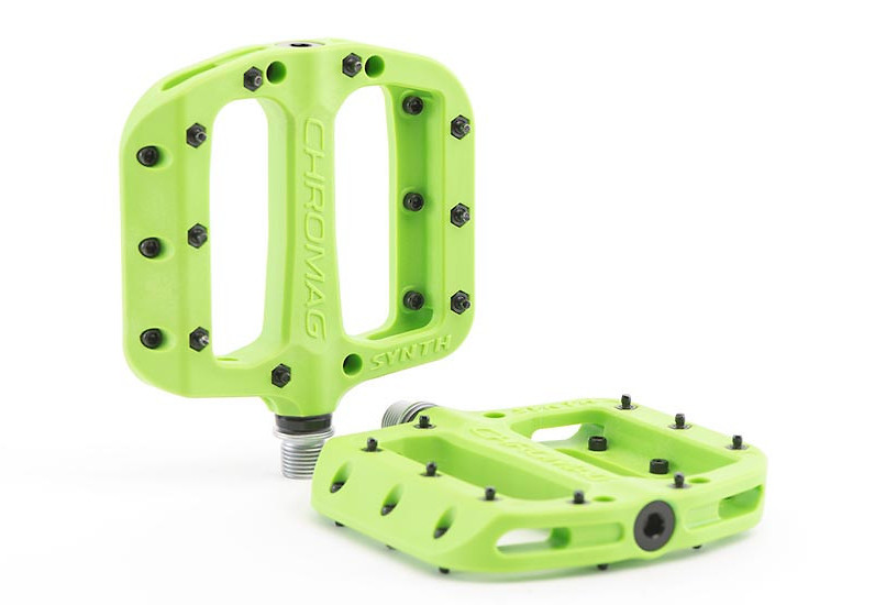 9//16 Green Chromag Synth Composite Platform Pedals