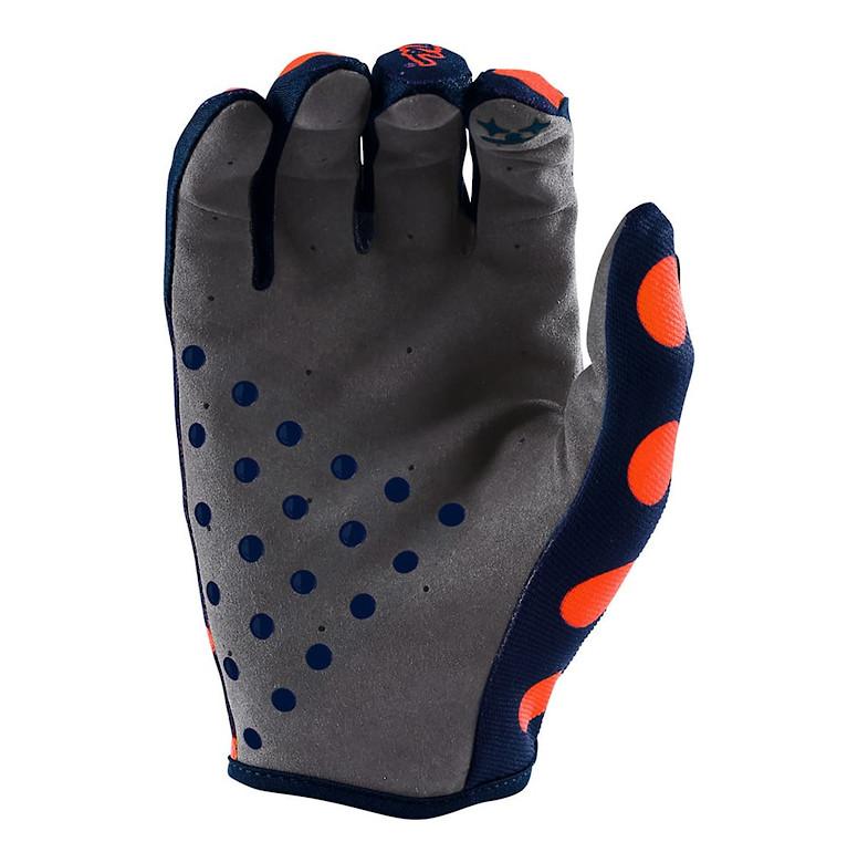 2018 TLD Air Glove Polka Dot Orange Navy Palm