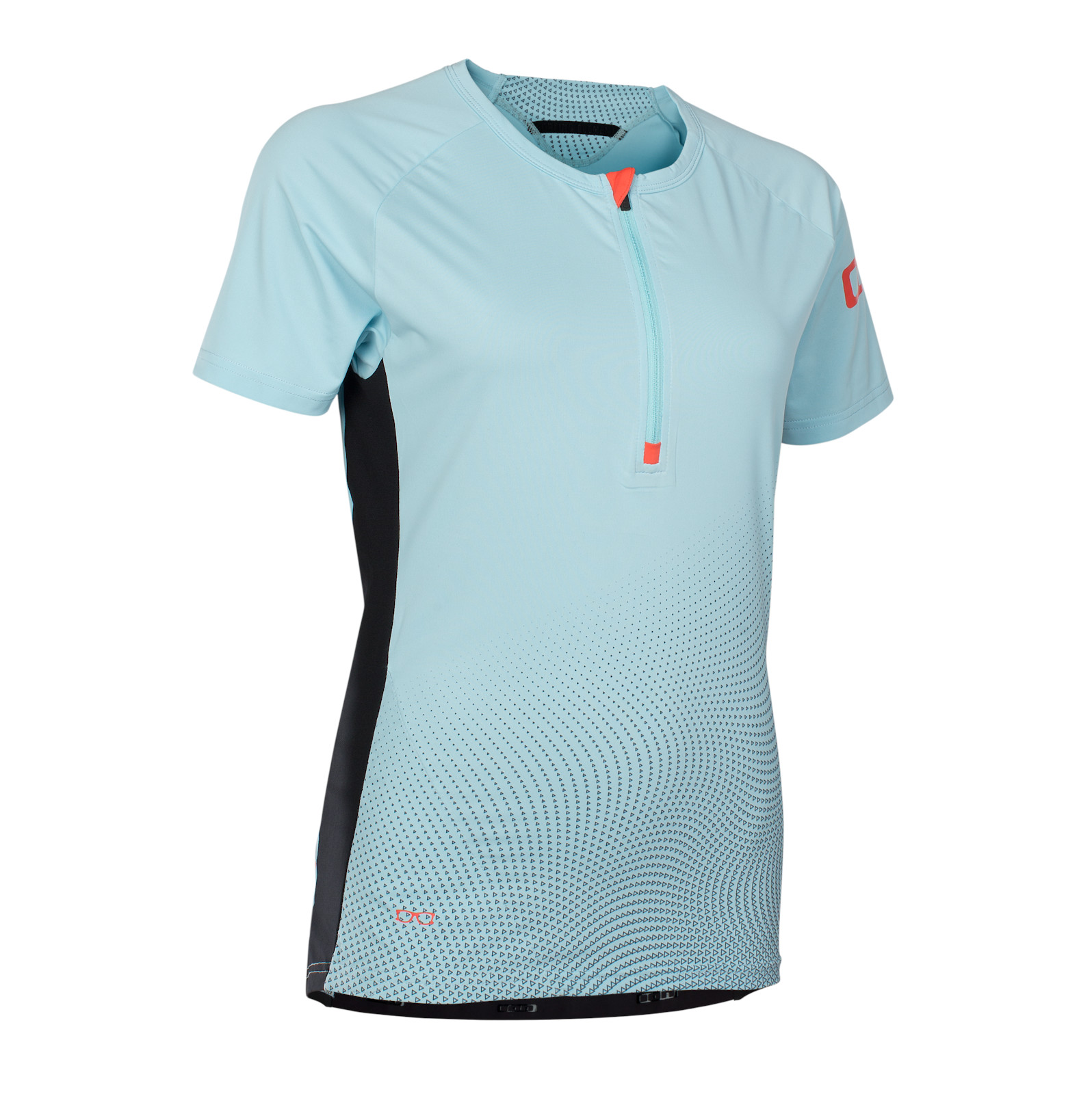 ION Traze Amp 1/2-Zip Short-Sleeve Women's Jersey (crystal blue)