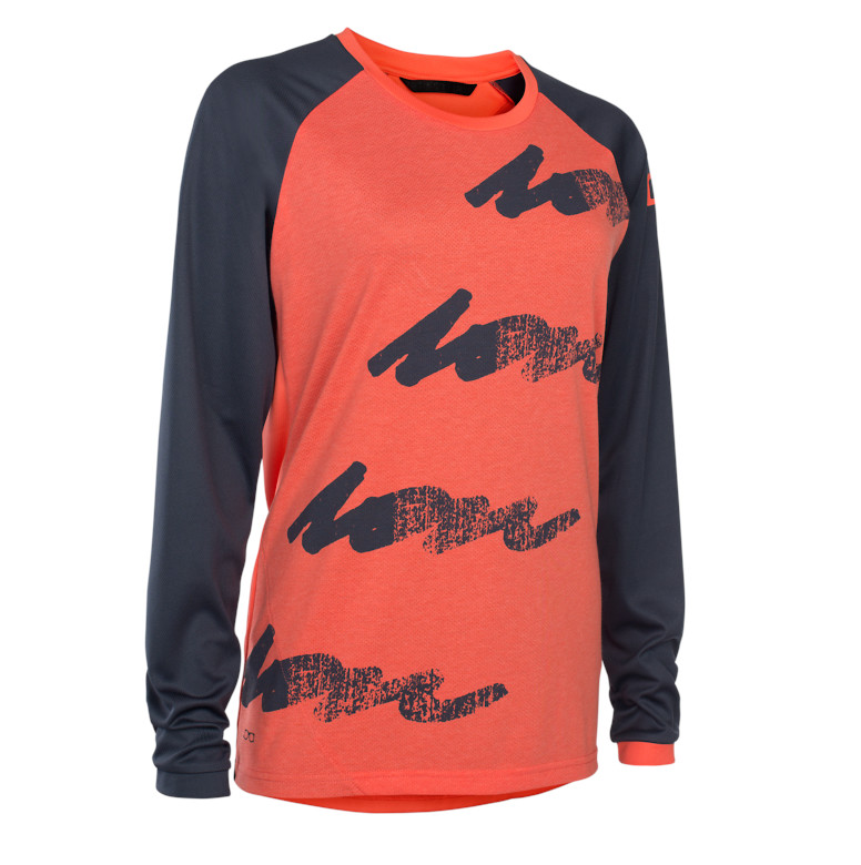 ION Scrub Amp Long-Sleeve Women's Jersey (hot coral)