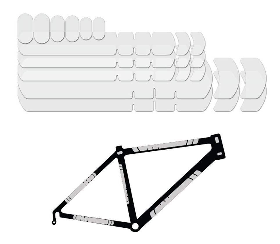 Clear Lizard Skins Adhesive Bike Protection Large Frame Protector