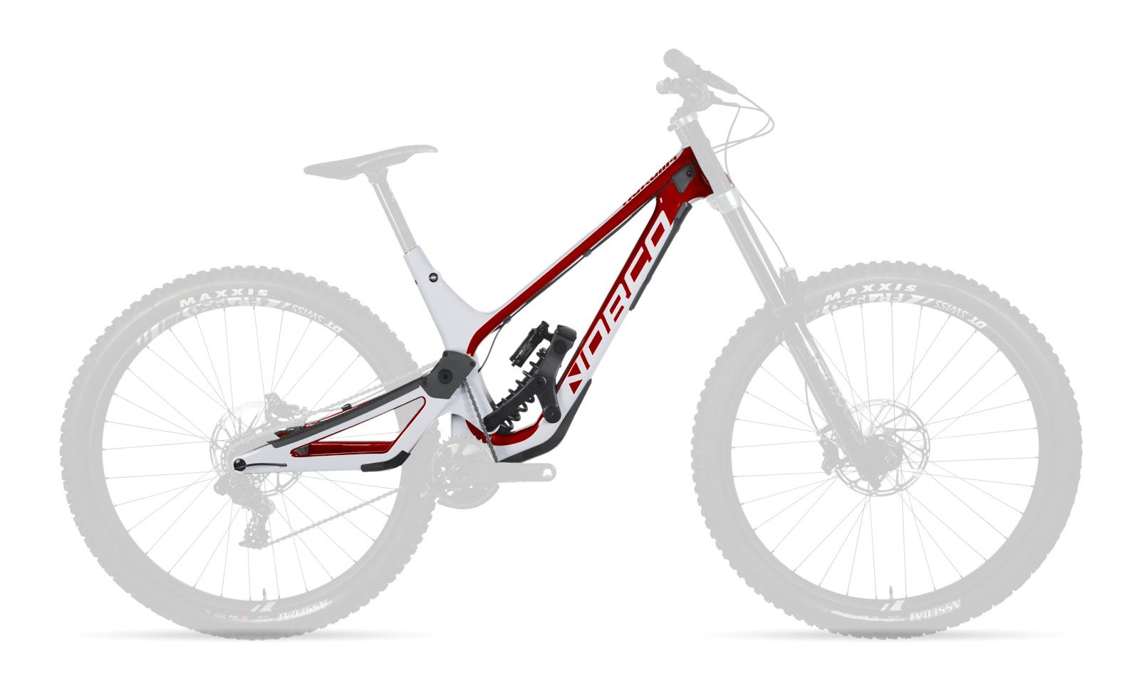 Norco Aurum HSP Frame - Red/white (2020-2021)