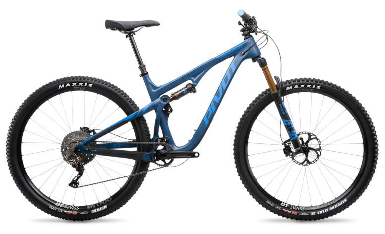 """2019 Pivot Trail 429 Pro XT/XTR 1X 29"""" with DT Swiss wheels (steel blue)"""