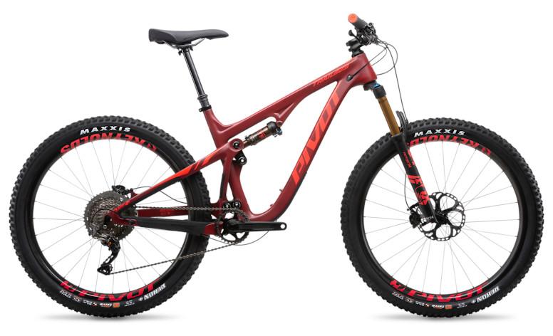 2019 Pivot Trail 429 Pro XT/XTR 1X 27.5 Plus with Reynolds wheels upgrade (crimson)
