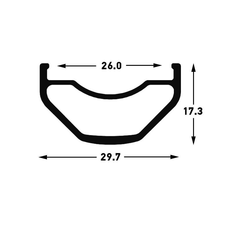 NoTubes Arch S1 (rim profile)