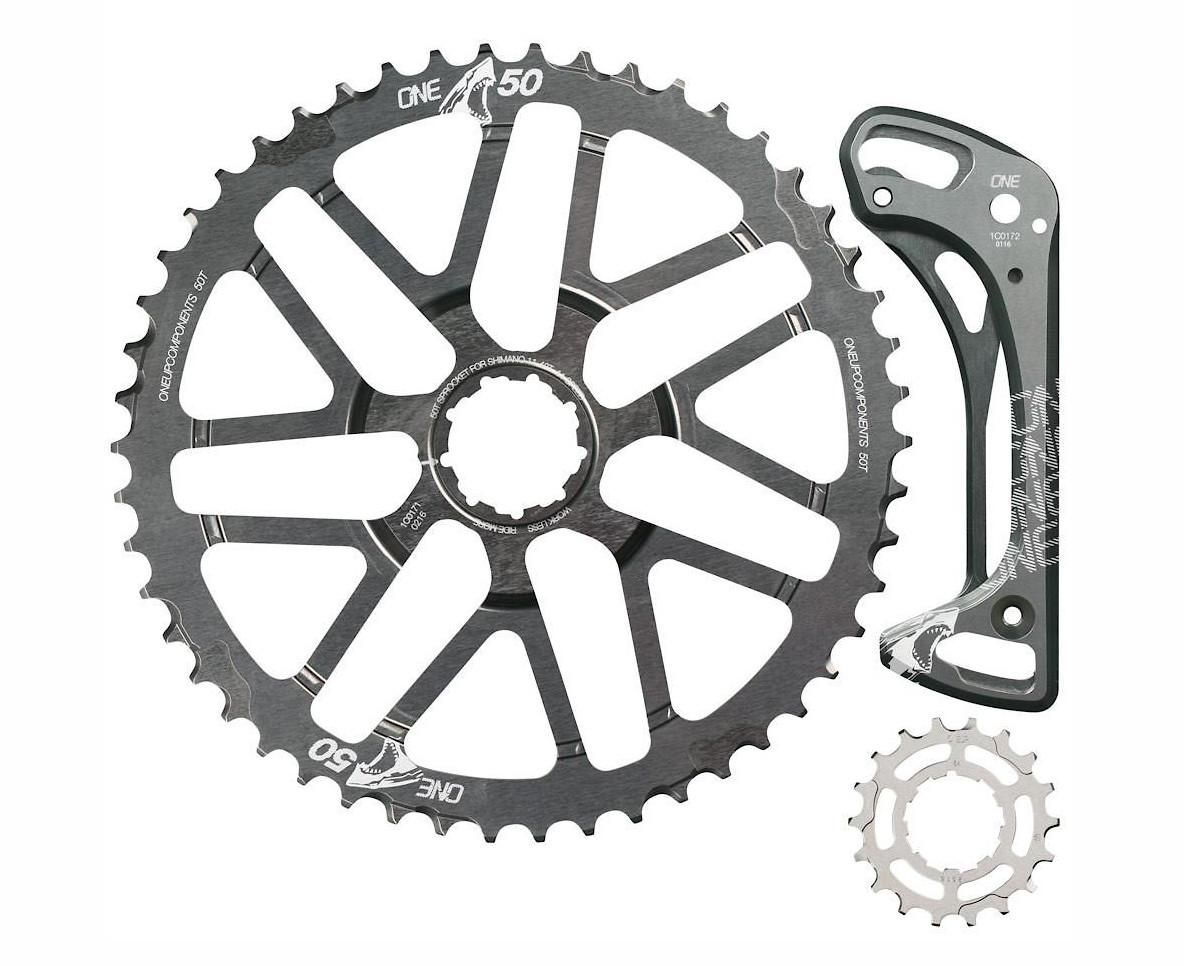 OneUp Components 50T Shark Sprocket Kit (Grey)