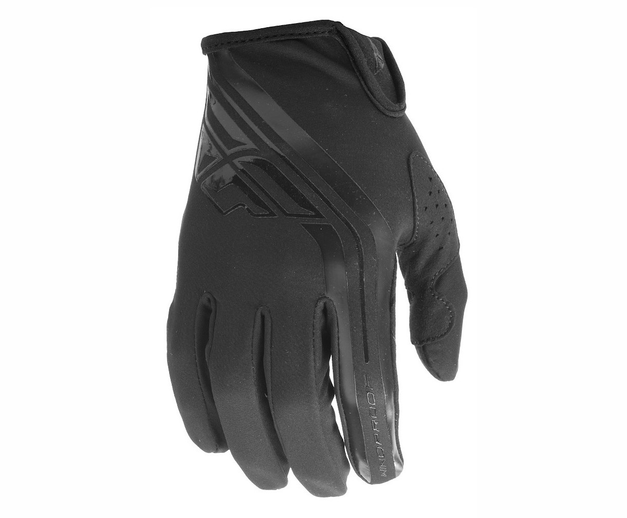 Fly Racing Lite Windproof Gloves (Black/Grey)
