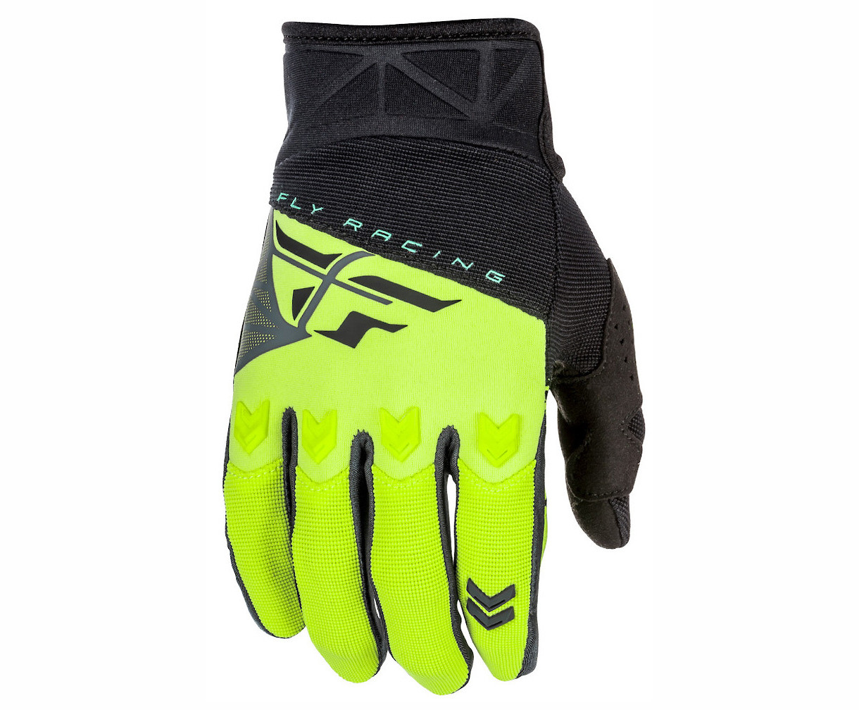 Fly Racing F-16 Gloves (Black/Hi-Vis)