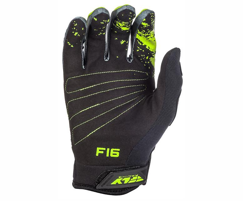 Fly Racing F-16 Gloves (Black/Hi-Vis)