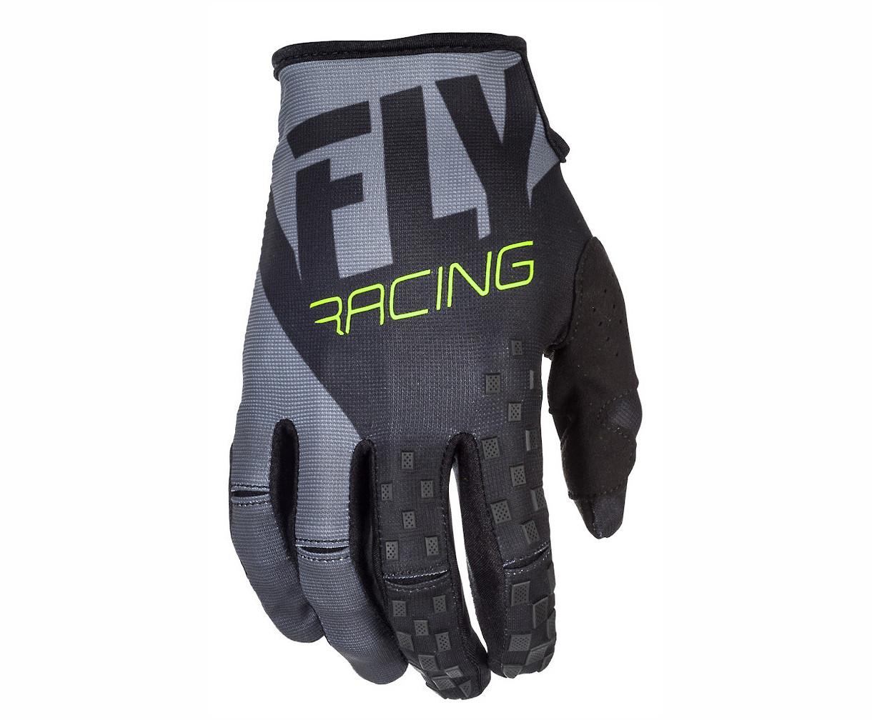 Fly Racing Kinetic Gloves (Black/Grey)