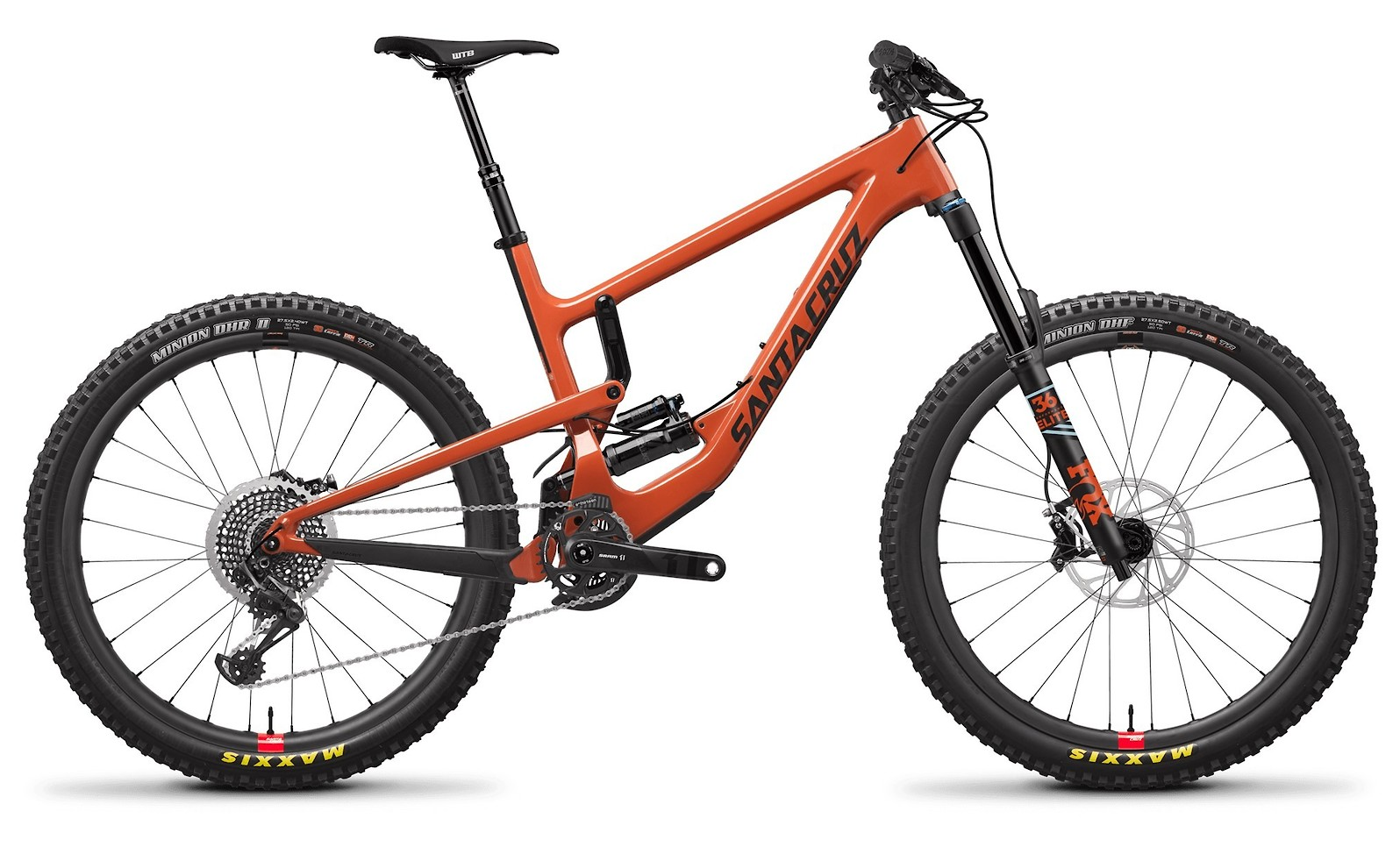 Nomad Carbon CC XTR Reserve Wheels Orange and Carbon