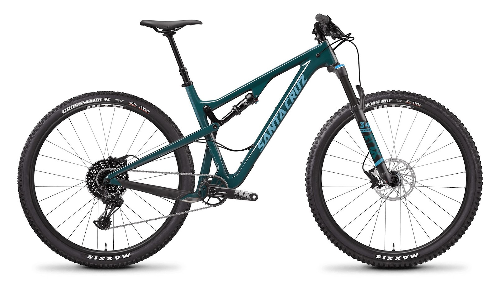 Tallboy Carbon C R Forest Green and Baby Blue