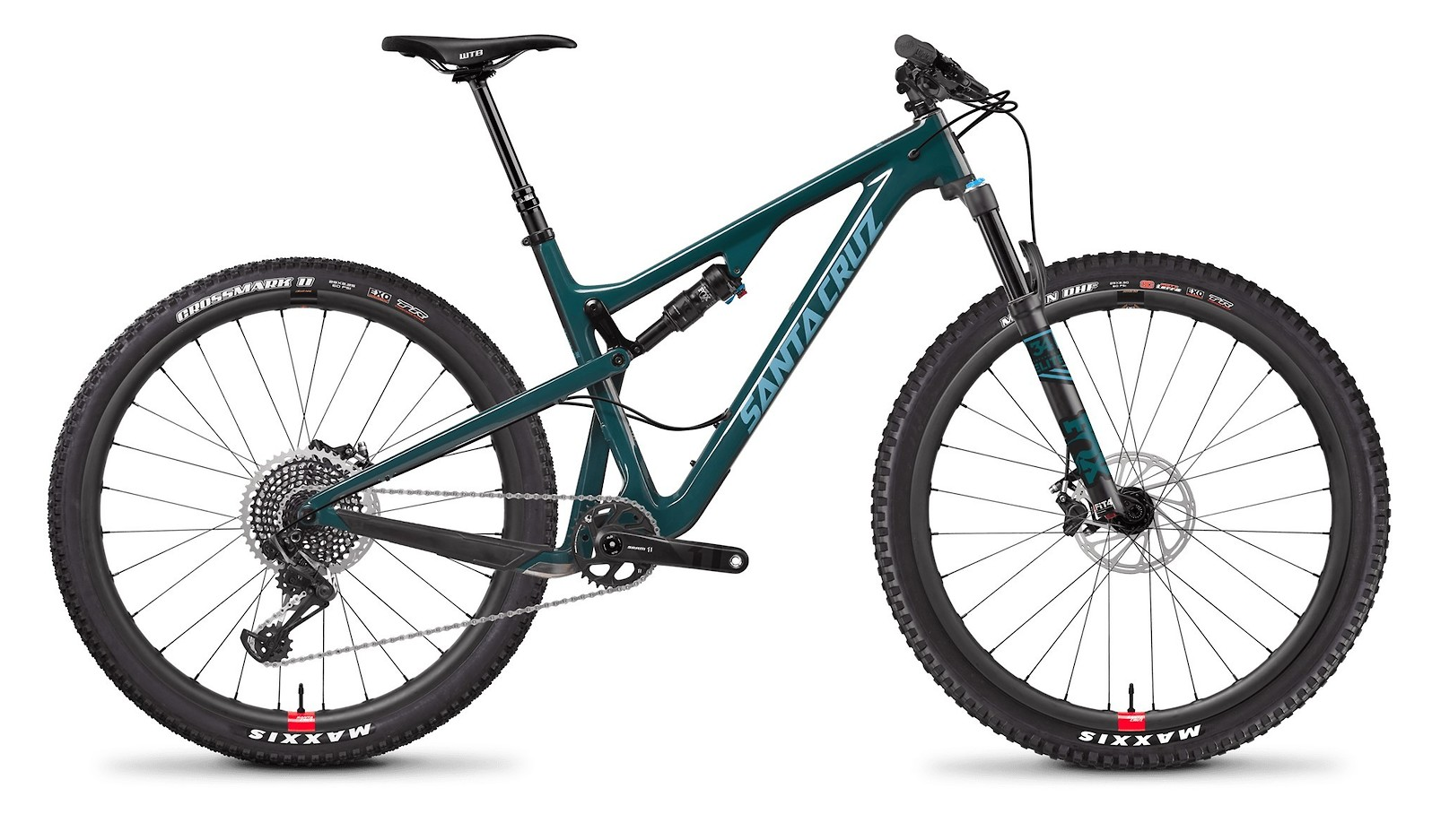 Tallboy Carbon CC Forest Green and Baby Blue with Reserve Wheels