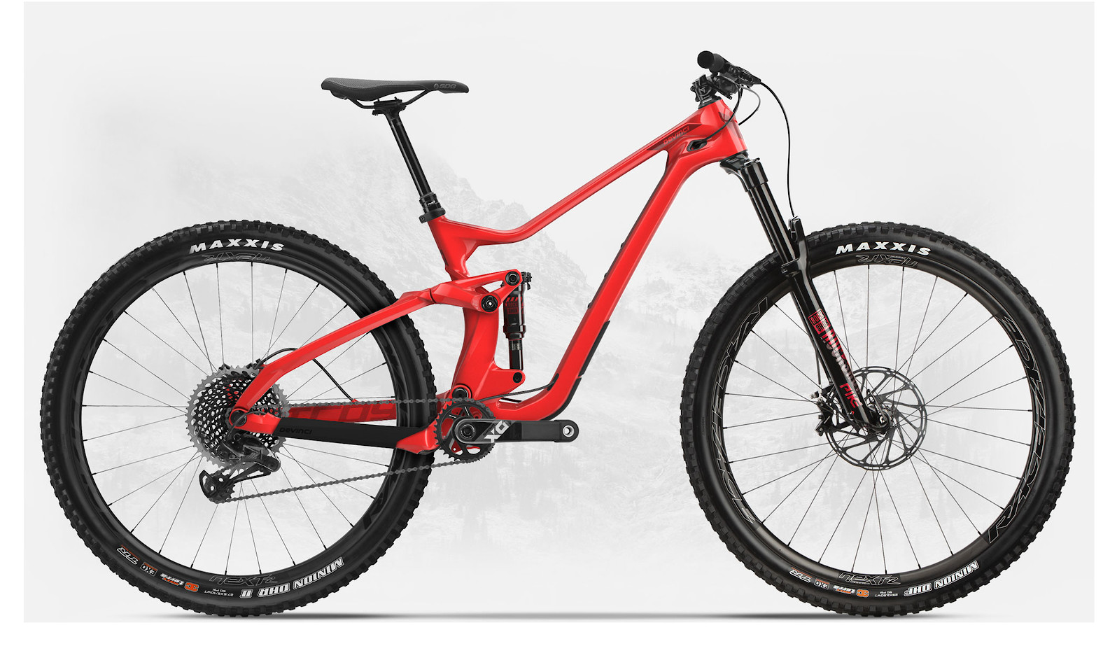 2019 Devinci Troy Carbon 29 X01 Eagle Gloss Red